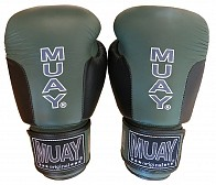 Muay Premium Boxing Gloves Army-Line - Black/Army Green