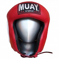"""Muay leather head protector """"amateur"""" - red"""