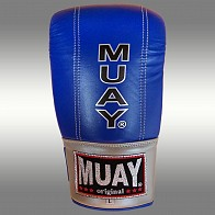 Muay Punching gloves Blue with open thumb