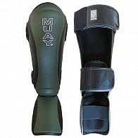 Muay Shin and Instep Army-Line fixed foot - black/army green