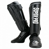 Super Pro Shin and Instep Protector - Black/white