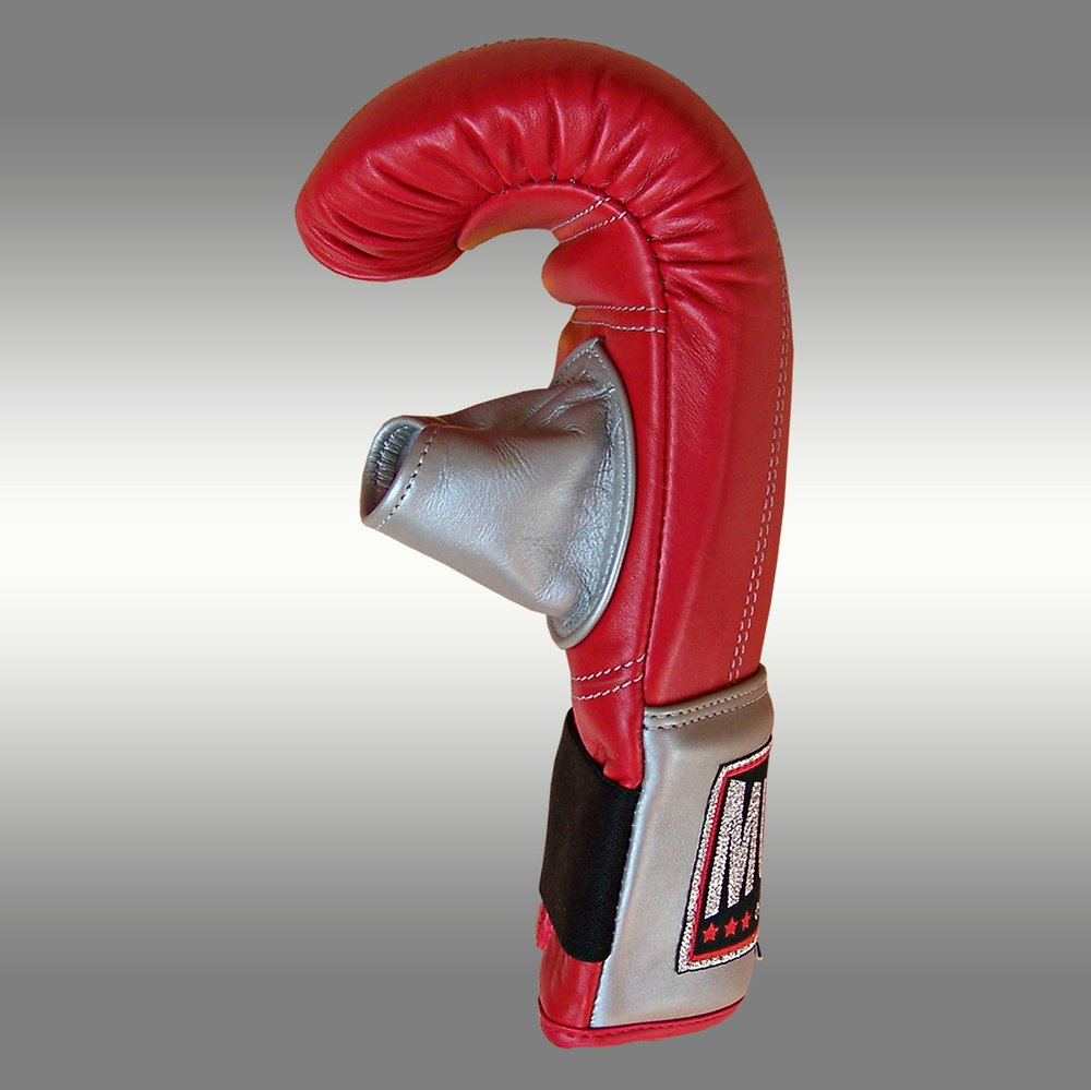 Muay Punching gloves Red with open thumb