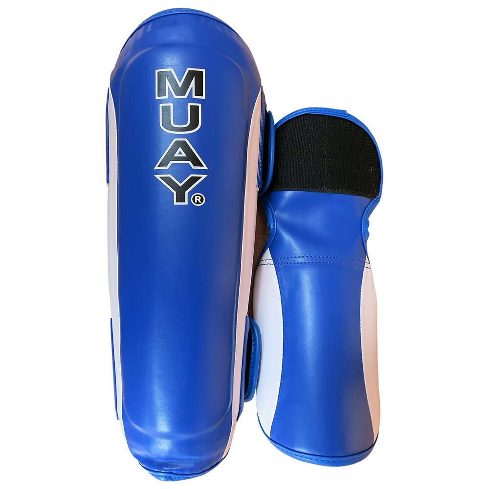 Muay Premium shin and instep - blue/white