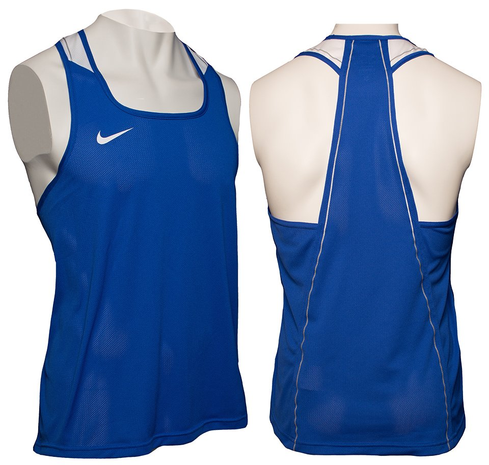 Nike Boxing Singlet Blue - Kickboxing and boxing clothing - Online ... 2a836b9c309c