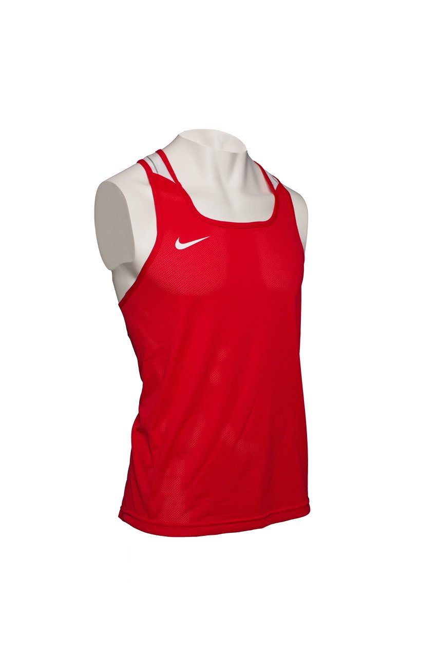 117264b6af23c8 Nike Boxing Singlet Red - Kickboxing and boxing clothing - Online  vechtsportwinkel Aiki-Budo Sport