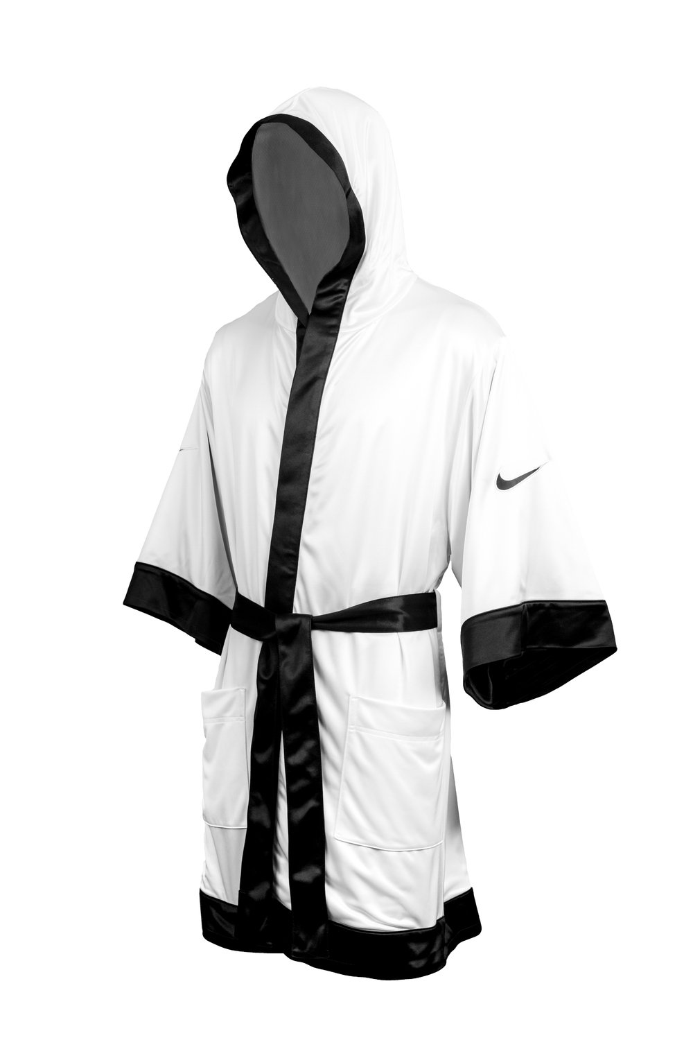 56db195b8603e0 Nike Boxing Jacket white black - Kickboxing and boxing clothing ...