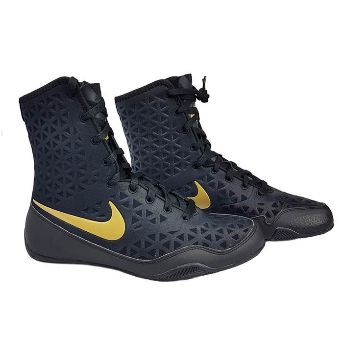 Black And Gold Boxing Shoes